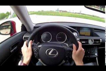 авто, Лексус, за рулем