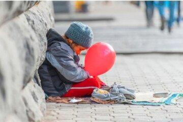 ребенок, нищие, милостыня