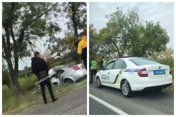 Трагічна аварія з поліцейськими трапилася на Одещині, влетіли в опору моста: з'явилося відео