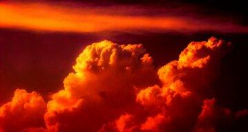 небо, тучи взрыв апокалипсис
