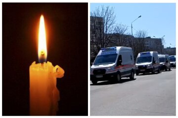 Скорые с мигалками проехали по городу за гробом: видео прощания с женщиной-медиком под Одессой