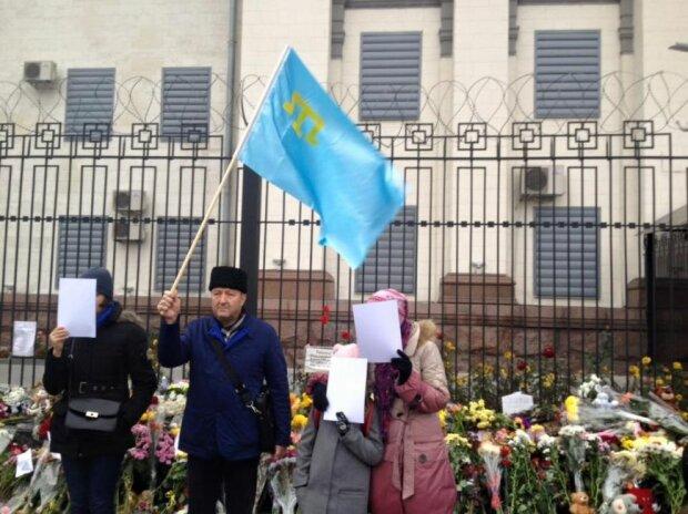 крымские татары митинг под посольством РФ_