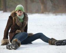 гололед, лед, зима, падать, травма