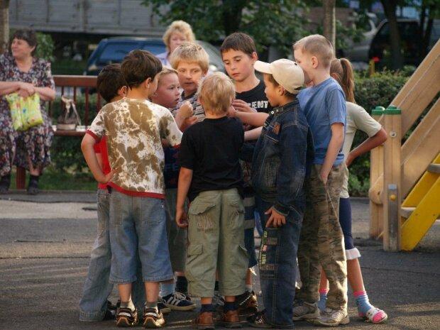 дети, двор