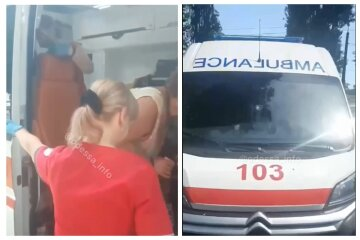 """""""Нечего лазить по жаре"""" : медики скорой не хотели осматривать женщину, потерявшую сознание в Одессе, кадры"""
