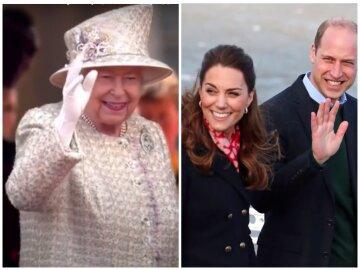 Єлизавета ІІ і герцоги Кембриджські, фото: колаж Politeka