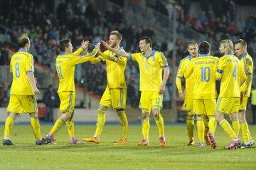 Украина значительно поднялась в рейтинге ФИФА