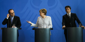 Олланд Меркель Ренци