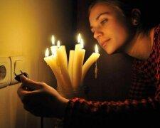 отключение света, свечи