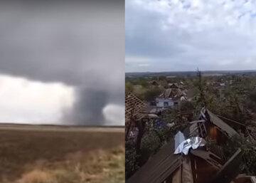 Разрушительный торнадо несется по Украине, стихия рушила все на своем пути: кадры последствий
