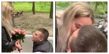 """""""Разом вони все подолають"""": тяжкопоранений боєць ЗСУ зробив пропозицію коханій, відео"""
