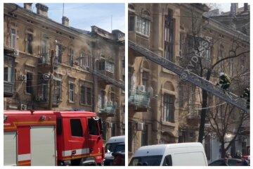 Смертельна пожежа в центрі Одеси: перші подробиці і кадри НП