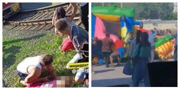 Взорвался надувной батут, на котором играли  дети: за жизнь двух девочек борются врачи, кадры