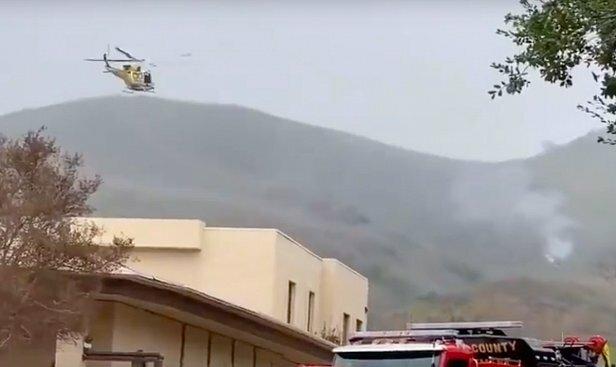 Очевидец заснял вертолет Коби Брайанта перед крушением, видео: заблудился в тумане
