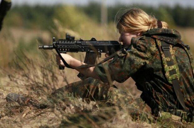 Украина, военные, девушка