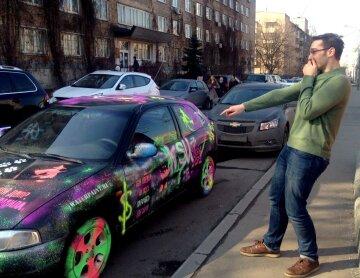 авто, граффити
