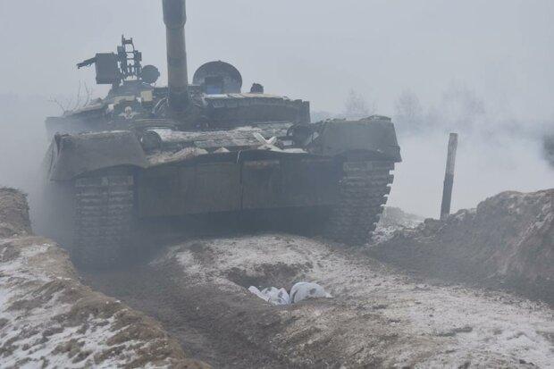 Донбасс, АТО, танк