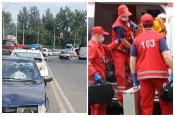 """Одесситка внезапно выбежала на дорогу, кадры видеорегистратора: """"водитель не успел затормозить"""""""