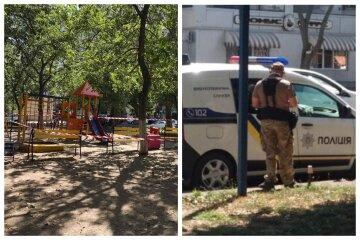 В Одессе оцепили детскую площадку, есть угроза взрыва: первые кадры с места событий
