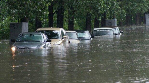 Машины, затопило, Кириловка