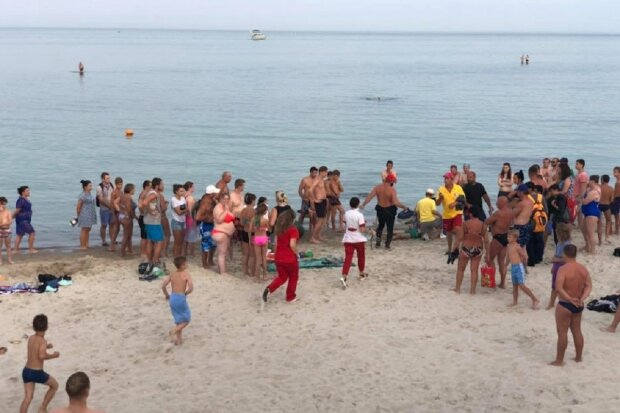 пляж, люди, утопленник