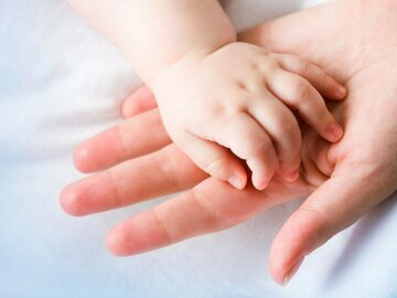 мать, ребенок, малыш, рука