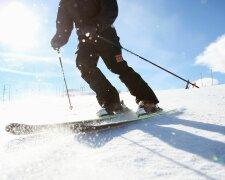 курорт лыжник лыжи снег горы