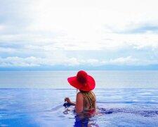 мажор, певица, отдых, дама, женщина, отпуск, море, роскошь,