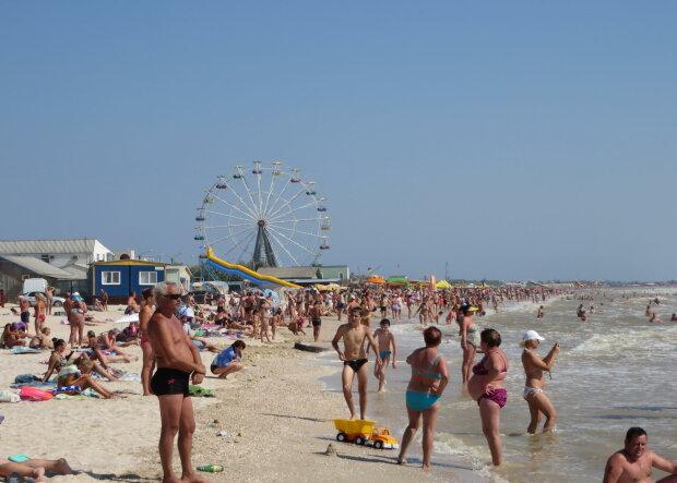 Кирилловка, пляж, Азовское море