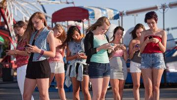 подростки, телефон