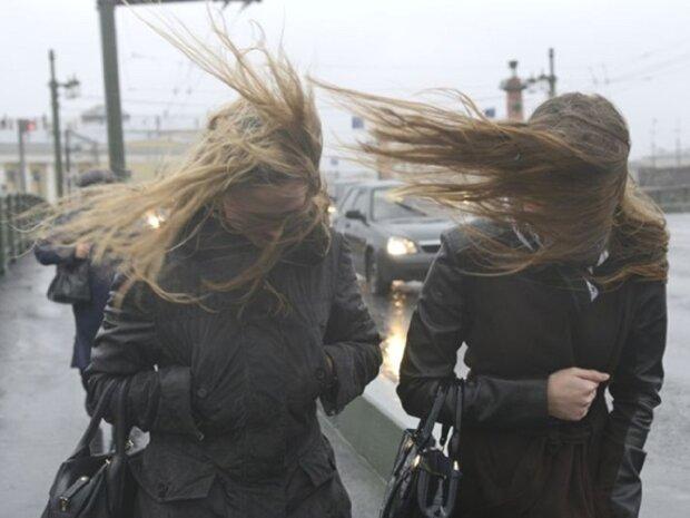 ветер, шторм, девушки