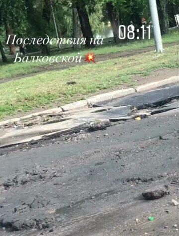 Как после бомбежки: в Одессе показали последствия мощного ливня, кадры