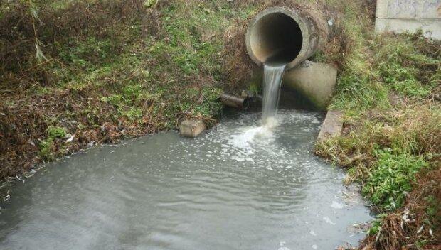 загрязнение, река