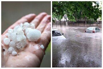 Ливень с градом обрушился на Одесскую область, улицы ушли под воду: кадры непогоды