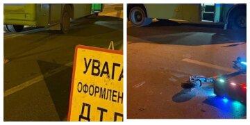 Врачи борются за жизнь парня, которого сбила маршрутка: кадры с места ДТП в Харькове