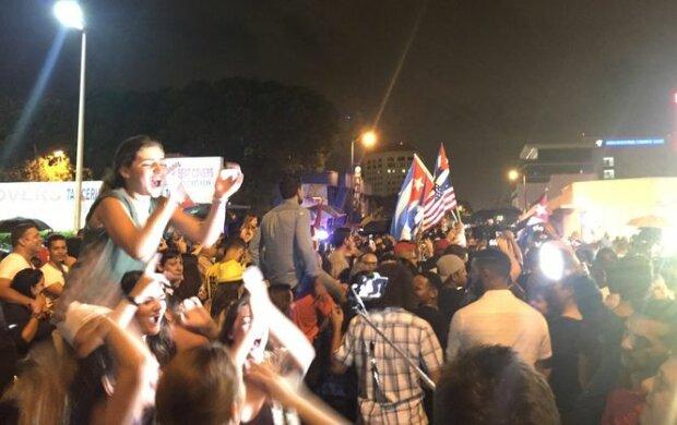 Американцы превратили смерть Кастро в праздник (видео)