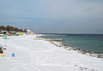 одесский пляж зимой