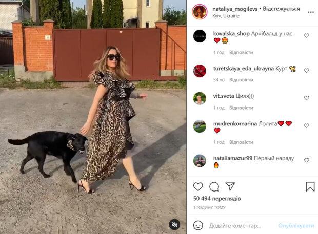 Могилевская сразила наповал видом в леопардовом платье с разрезом: «Глаз не оторвать»