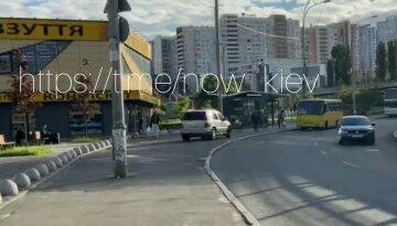 """В Киеве автохам рассекал по тротуару: """"Вместо извинений – маты"""", кадры позора"""