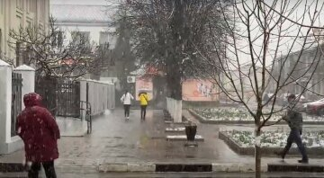 """Снегопад посреди весны огорошил одесситов, кадры аномалии: """"засыпает снегом с утра"""""""