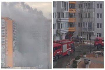 Як виглядає 25-поверховий будинок в Одесі після гасіння пожежі: наслідки НП показали на відео
