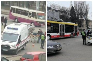 """""""Ехал на красный и от удара перевернулся"""": в Одессе троллейбус попал в аварию, кадры"""