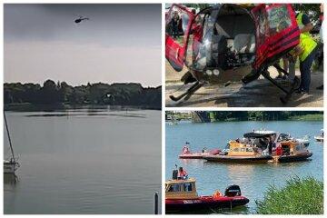 """Вертолет с украинцами рухнул в озеро: появилось видео крушения, """"резко начал падать вниз"""""""