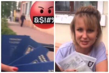 """Українка з дітьми позбулися паспортів, записавши весь гнів на відео: """"Іди ти в..."""""""