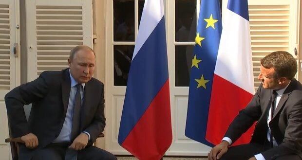 """Недовольный Макрон отчитал Путина, детали жесткого разговора: """"Я сказал ему, что..."""""""