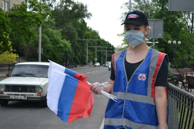 ДНР, флаг России