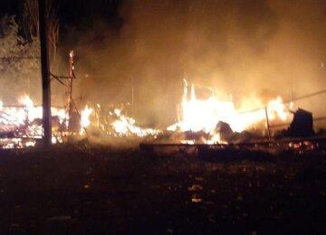 Пожар охватил базу отдыха в Одесской области, домики сгорели дотла: кадры ЧП