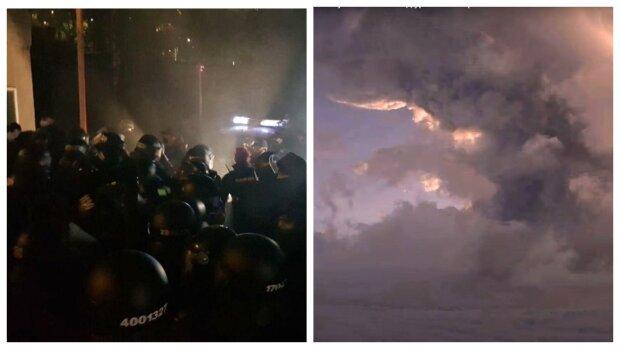 Резкий скачок в обменниках, жесткие столкновения с полицией в Киеве и мощное извержение вулкана – главное за ночь