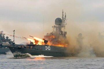 российские войска, море, учения, флот