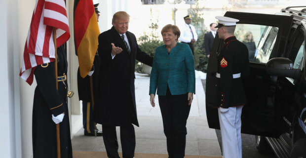 German Chancellor Angela Merkel Arrives To White House For Visit With President Trump